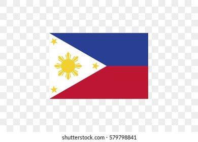 An Illustrated Country Flag of Phillipines