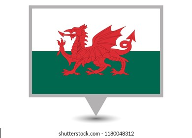 An Illustrated Country Flag of  Wales