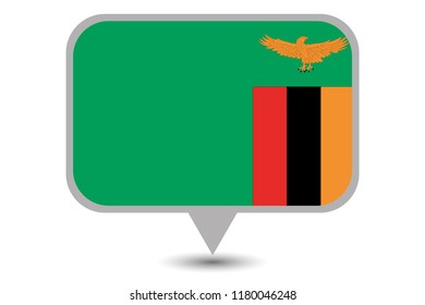An Illustrated Country Flag of  Zambia