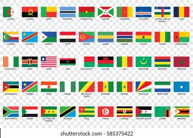 An Illustrated Country Flags of Africa