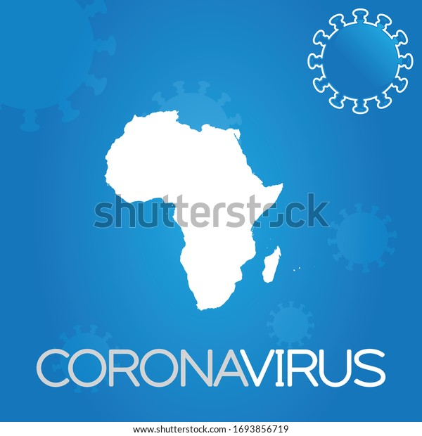 Illustrated Country Shape of Africa