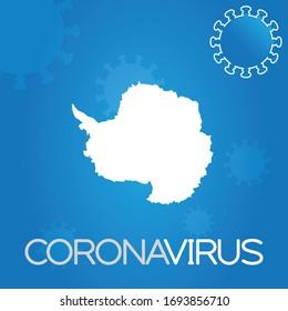 Forme de campagne illustrée de l'Antarctique