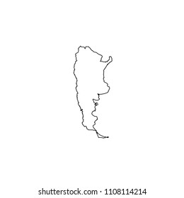 An Illustrated Country Shape of Argentina
