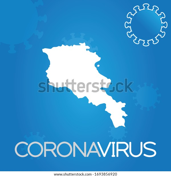 Illustrated Country Shape of Armenia