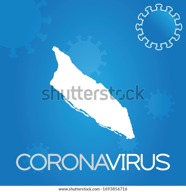 Illustrated Country Shape of Aruba