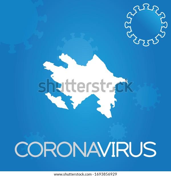 Illustrated Country Shape of Azerbaijan