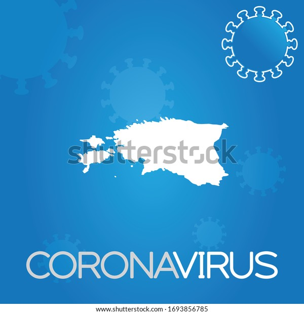 Illustrated Country Shape of Estonia
