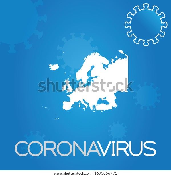 Illustrated Country Shape of Europe