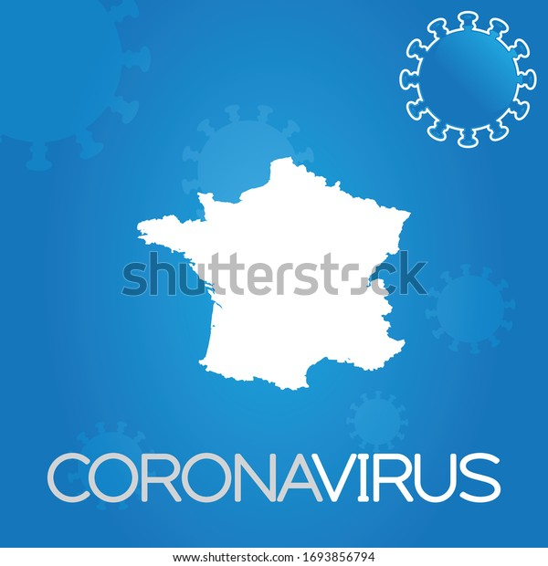 Illustrated Country Shape of France