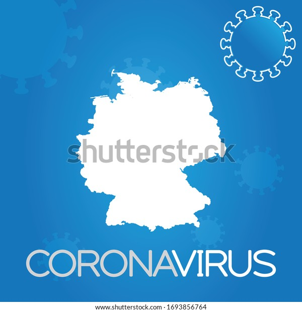 Illustrated Country Shape of Germany