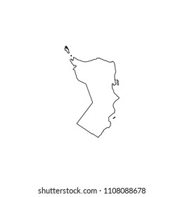 An Illustrated Country Shape of Oman