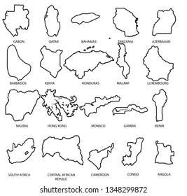 An Illustrated Country Shape Pack