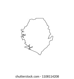 An Illustrated Country Shape of Sierra Leone