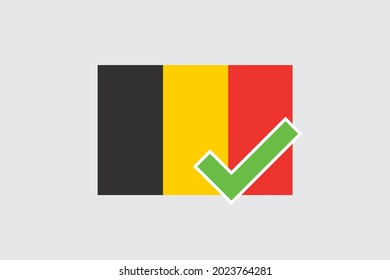 Illustrated Flag for the Country of  Belgium