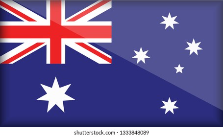 An Illustrated Glossy Country Flag of Australia. eps10