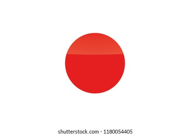 An Illustrated Glossy Country Flag of  Japan