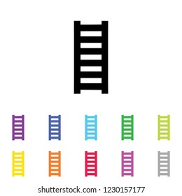 An Illustrated Icon in an array of colours on a White Background -  Ladder