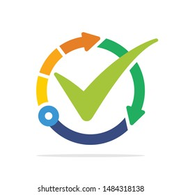 Illustrated icon with the concept of the best technology management system