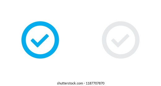 An Illustrated Icon Isolated on a Background - Round Tick