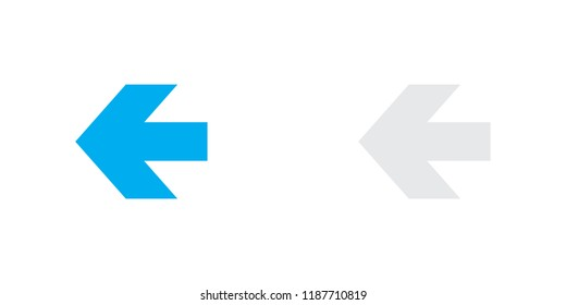 An Illustrated Icon Isolated on a Background - Arrow Left