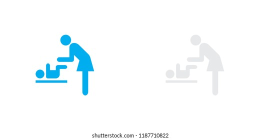 An Illustrated Icon Isolated on a Background - Baby Change