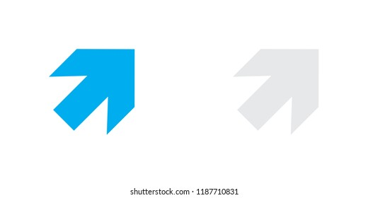 An Illustrated Icon Isolated on a Background - Arrow Up Right