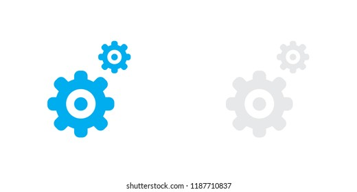 An Illustrated Icon Isolated on a Background - Cogs