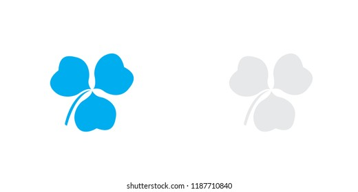 An Illustrated Icon Isolated on a Background - Clover