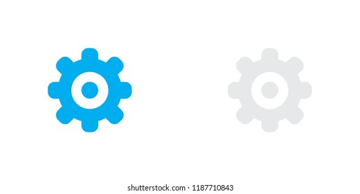 An Illustrated Icon Isolated on a Background - Cog