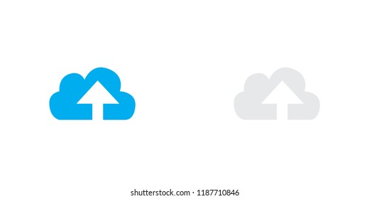 An Illustrated Icon Isolated on a Background - Cloud Upload Thick