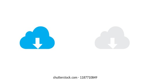 An Illustrated Icon Isolated on a Background - Cloud Download