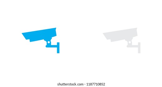An Illustrated Icon Isolated on a Background - Closed Circuit Television Camera