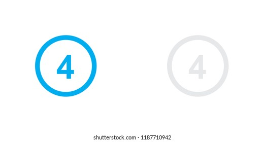 An Illustrated Icon Isolated on a Background - Circle 4 White