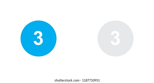 An Illustrated Icon Isolated on a Background - Circle 3 Black