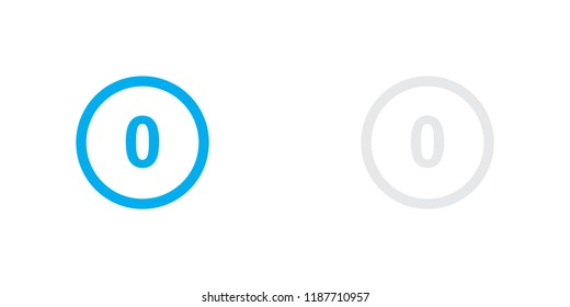 An Illustrated Icon Isolated on a Background - Circle 0 White