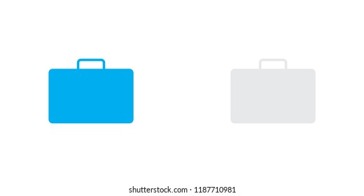 An Illustrated Icon Isolated on a Background - Briefcase