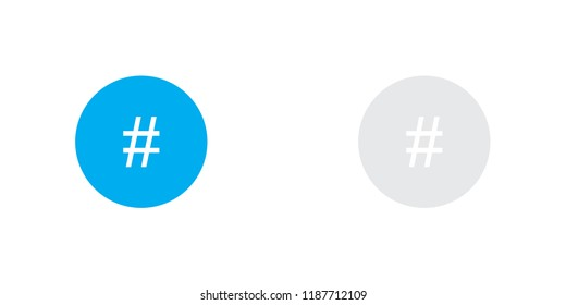 An Illustrated Icon Isolated on a Background - Circle HashBlack