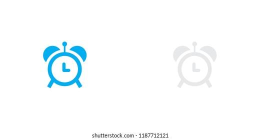 An Illustrated Icon Isolated on a Background - Alarm