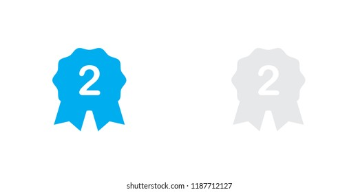 An Illustrated Icon Isolated on a Background - 2nd Place Rosette