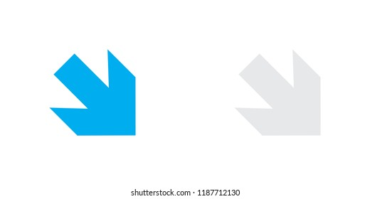 An Illustrated Icon Isolated on a Background - Arrow Down Right