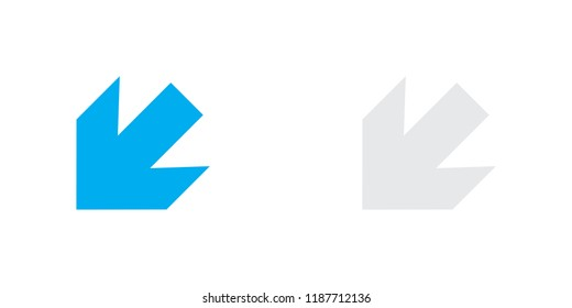 An Illustrated Icon Isolated on a Background - Arrow Down Left