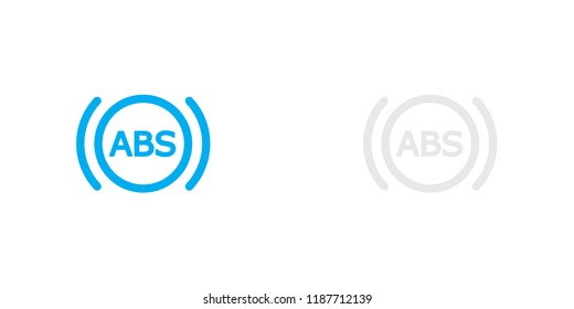 An Illustrated Icon Isolated on a Background - ABS Light
