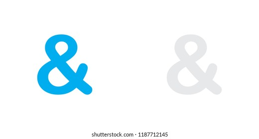 An Illustrated Icon Isolated on a Background - Ampersand