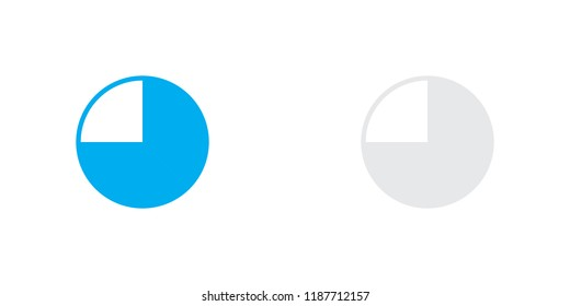 An Illustrated Icon Isolated on a Background - 75 Percent Pie Chart