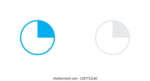 An Illustrated Icon Isolated on a Background - 25 Percent Pie Chart