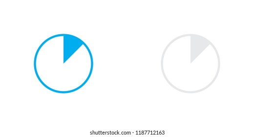 An Illustrated Icon Isolated on a Background - 12 Percent Pie Chart