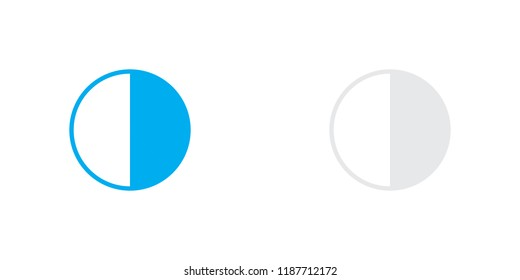 An Illustrated Icon Isolated on a Background - 50 Percent Pie Chart