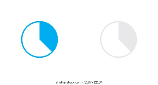 An Illustrated Icon Isolated on a Background - 37 Percent Pie Chart