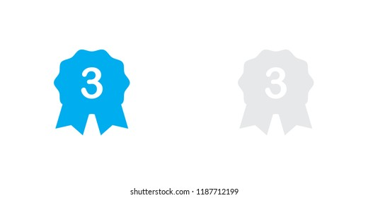 An Illustrated Icon Isolated on a Background - 3rd Place Rosette