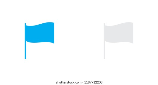 An Illustrated Icon Isolated on a Background - 3D Rectangular Waving Flag